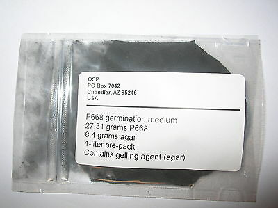 Orchid flask medium P668 mother flask and germination