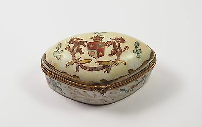 Antique 1800's French SAMSON of Paris Hand Painted Porcelain Armorial Box
