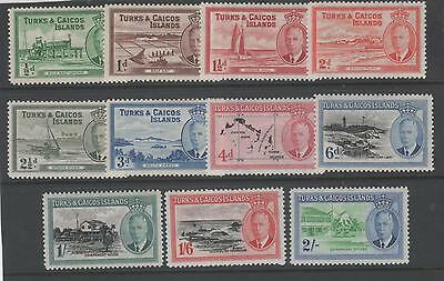 Turks & Caicos Islands King George Vi Mint 1950 Issues To 2/-