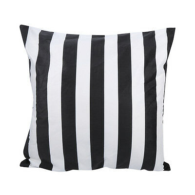45 * 45 Black White Striped Soft Sofa Pillow Case Cushion Cover Home Decor  WY