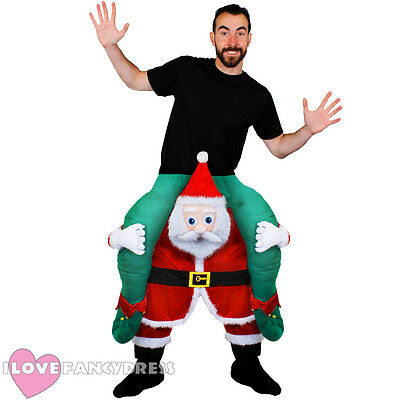 Pick Me Up Santa Claus Costume Ride On Fancy Dress Funny Novelty Christmas