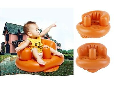 Baby Kids Children Toddlers Learn Stool Chair Training Bath Seat Inflatable Sofa