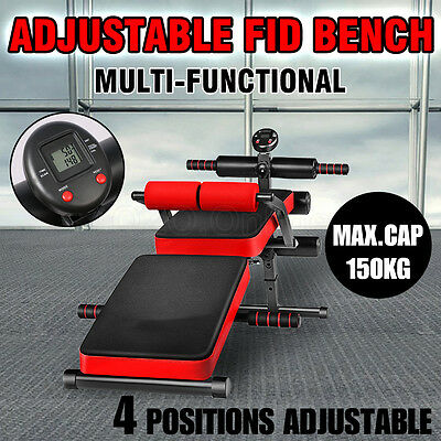 Adjustable Weight FID Bench Home Gym Sit-up Dumbbell Push-up Exercise Fitness AU