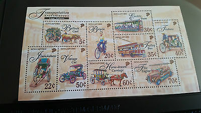 Singapore 1997 Sg Ms878 Transportation Mnh