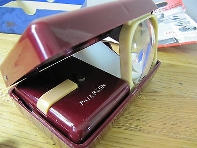 Paterson Illuminated Pocket Viewer. Vintage Slide Viewer in Box and Instructions