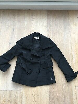 Christian Dior Black 'Grease' Biker Peacoat Jacket