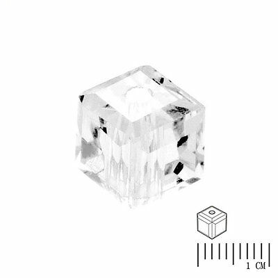 100pcs Crystal Beads Cube Square Loose Spacer DIY Jewelry Crystal 4mm
