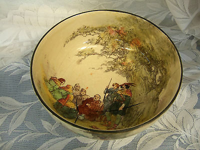 Vintage Large Royal Doulton Footed Bowl Under The Greenwood Tree Seriesware 1920