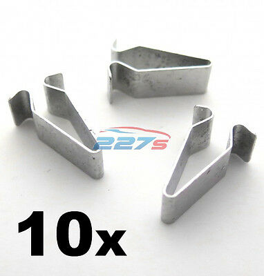 10x Metal Trim Clips for Volkswagen Boot & Trunk Lining- 22mm Long 4A0867276