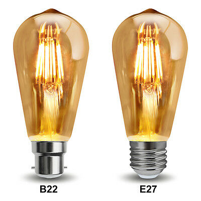 Vintage Dimmable LED 6W Squirrel Cage Edison Style Light Bulb B22 or E27