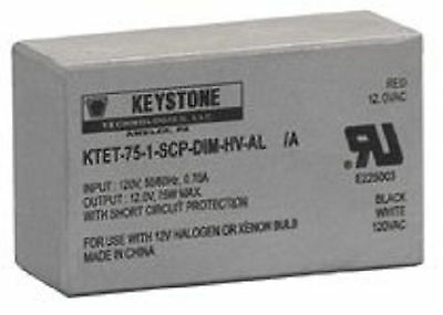 75 Watt 120V to 12 Volt Low Voltage Step Down Dim by Keystone Technologies NEW