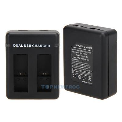 AHDBT-501 Dual USB Battery Charger with Cable Kit for Gopro Hero 5 Action Camera