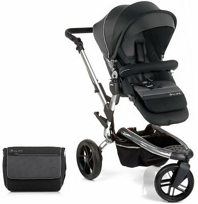 Brand new Jane trider pushchair in black chrome with bag & raincover from 0m+