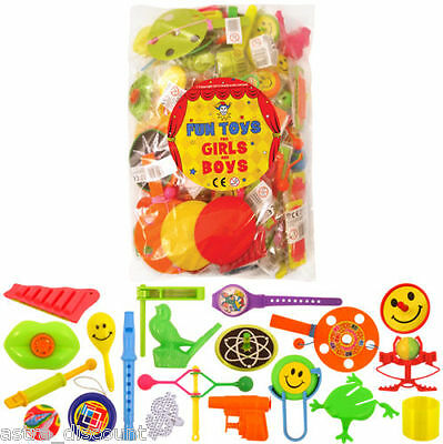 100 Mixed Party Bag Loot Fillers Pinata Toys Prizes Lucky Dip Girls Boys