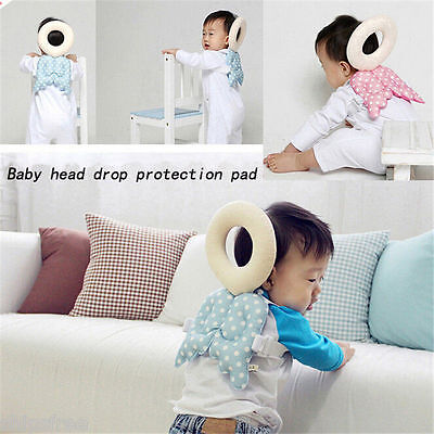 Baby Toddler Head Neck Support Headrest Travel Car Seat Pillow Cushion Cute Wing