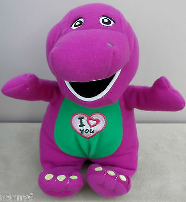 Singing BARNEY The Dinosaur Sings 'I Love You' Song Soft Plush Toy