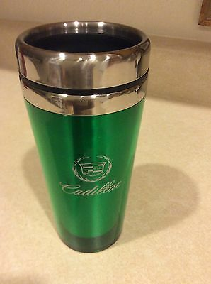 NEW Legends Cadillac Green stainless steel 16 oz.travel mug cup.