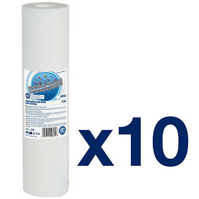 """10pk 5 Micron Wound Sediment Water Filter 10"""" ideal for Reverse Osmosis"""
