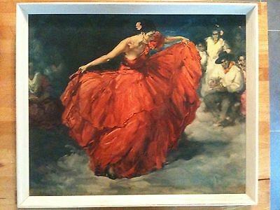 The Red Skirt By Frs Clemente Original Print And Frame