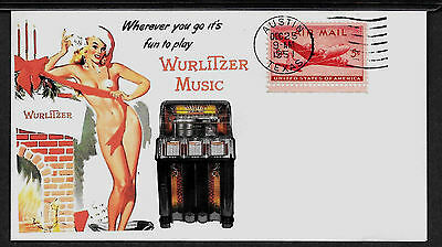 1950 Wurlitzer Juke Box Ad Featured on Xmas Collector's Envelope *X127