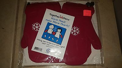 NWT Red TOGETHER MITTENS Mens Womens Girls Boys Couples Hand Holding