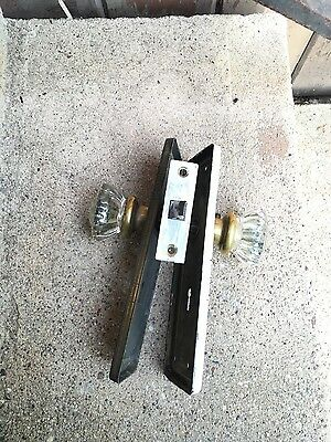 vintage glass handle door latch