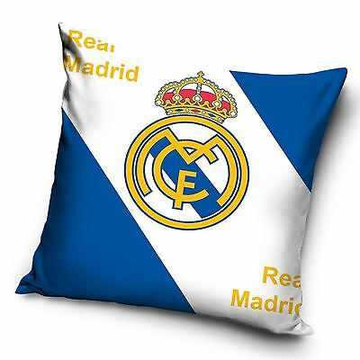Real Madrid Football Club Crest Filled Cushion White Blue Bedroom