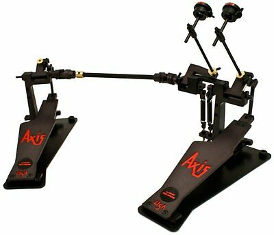 Axis A Longboard Double Bass Drum Pedal Black - A-L2CB