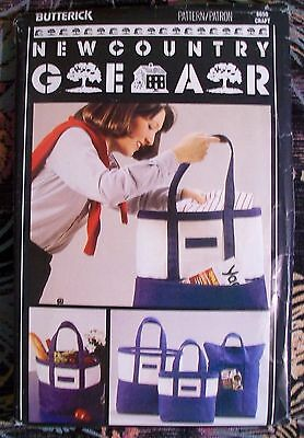 Butterick Vintage Sewing Pattern 6650 New Country Gear Canvas Tote Bags