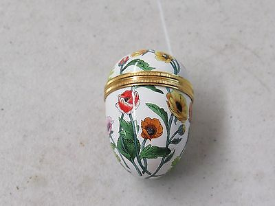 Halcyon Days Enamel Egg with Floral Pattern 22360