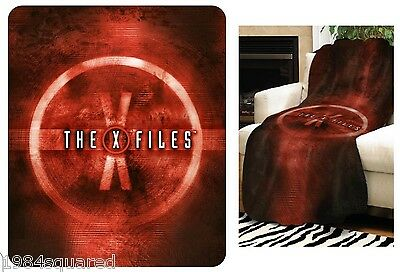"X-Files Red Logo 50"" x 60"" Throw Blanket Official Licensed TV Series New Mint"