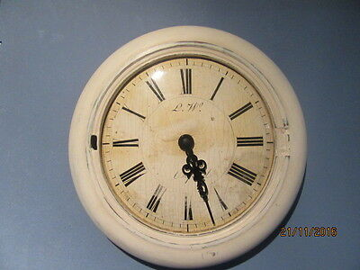 "Upcycled Shabby Chic Quartz Clock In Working Order 9"" x 9"""