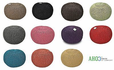 40/50/60cm Large Moroccan Knitted Pouffe Footstool Cushion Foot Stool Handmade