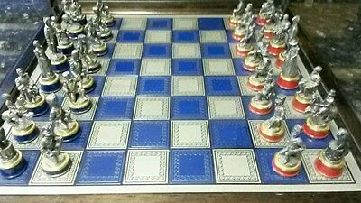 Battle of waterloo pewter chess set