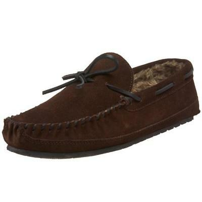 Minnetonka 8976 Mens Casey Suede Faux Fur Lined Moccasin Slippers BHFO