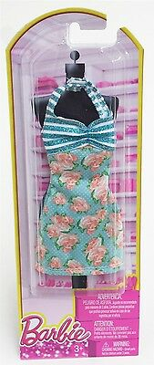 Mattel BCN49 Barbie Single Fashion Outfit for Doll -TURQUOISE PINK ROSES