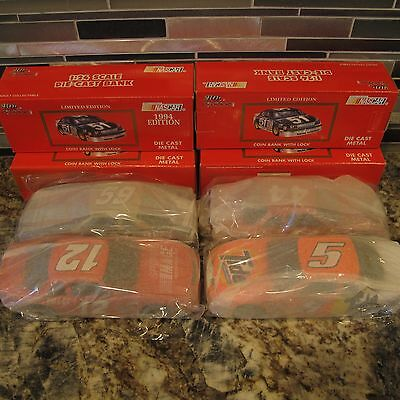 Racing Champions Die Cast Banks - Lot of 4 Chevy Lumina - 1/24 Scale NIB