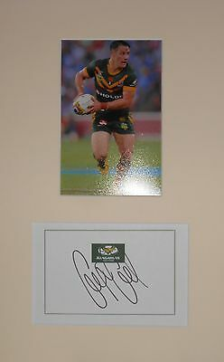 Cooper Cronk Hand Signed Australia Kangaroos Rugby League Photo Mount.