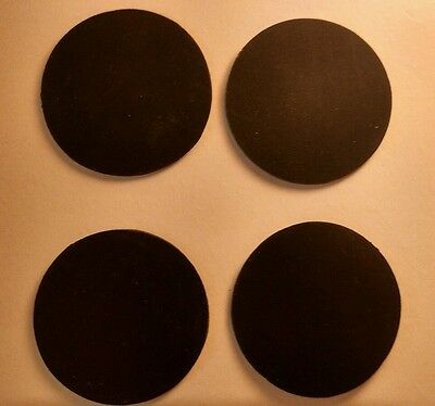 "FOUR 1.75"" diameter (44.45mm) x 1/16"" rubber disc gasket seal / treadmill feet"