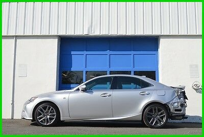 2015 Lexus IS 350 IS350 F-Sport AWD Navigation Hot & Cold Seats Repairable Rebuildable Salvage Lot Drives Great Project Builder Fixer Rear Hit