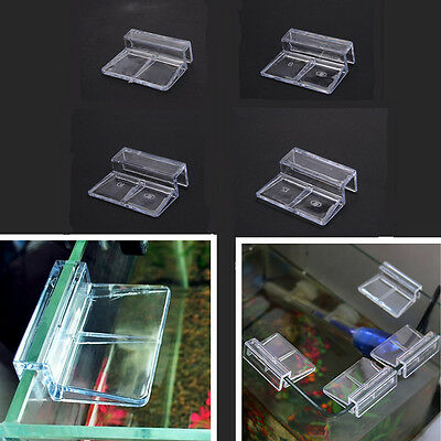Aquarium Tank Clear Plastic Clips Glass Cover Strong Support Holders 6/8/10/12mm