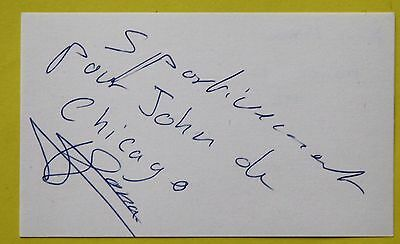 Boxing: Angel Mona of France Autographed Card