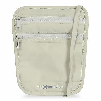 Bentley Go RFID Neck Pouch White