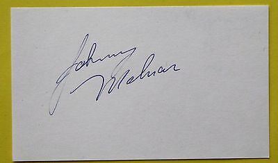 Boxing: Johnny Molnar Autographed Card