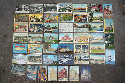 Lot of 47 vintage postcards from United States: 40s / 50s, New York Hotels