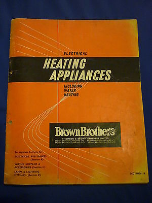 Electrical Heating Appliances Catalogue Brown Brothers (July 1961)