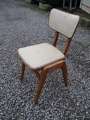 ORIGINAL ANTIQUE VINTAGE 1960's BEECH FRAMED DESK/DINING CHAIR • £22.00