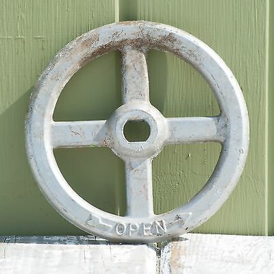 Old Factory Salvage Metal Shut-Off Valve Handle - Wall Display, Industrial Decor