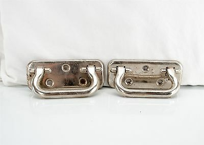 Vintage Salvaged Chrome Plated Trunk Handle Drawer Pulls