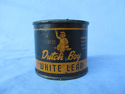 Vintage Dutch Boy Paint White Lead Metal Can 1 Lb